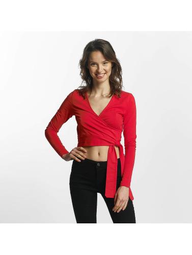 Noisy May Mujeres Camiseta de manga larga Laila in rojo