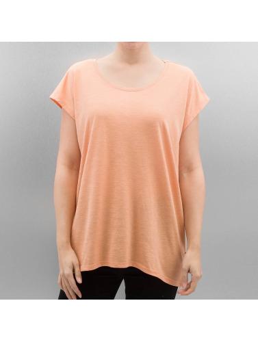 Noisy May Mujeres Camiseta nmMathilde Loose Long in naranja