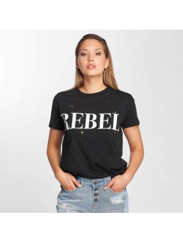 Noisy May Mujeres Camiseta nmCommand in negro