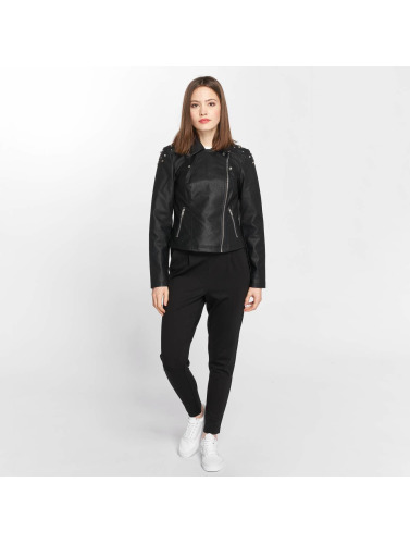 Noisy May Damen Lederjacke nmCora in schwarz