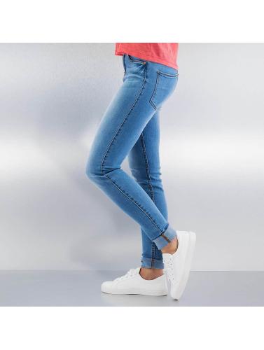Noisy May Damen Skinny Jeans nmLucy Normal Waist Super Slim in blau