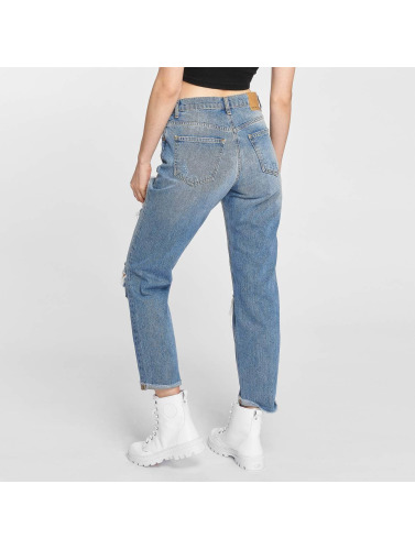 Noisy May Damen Straight Fit Jeans Liv in blau