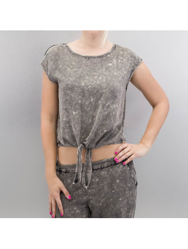 Noisy May Damen T-Shirt nmMaple in grau