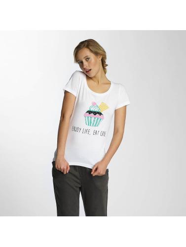 Noisy May Damen T-Shirt nmAxel Printed in weiß