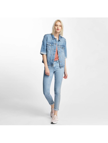 Noisy May Damen Übergangsjacke nmMino Denim in blau