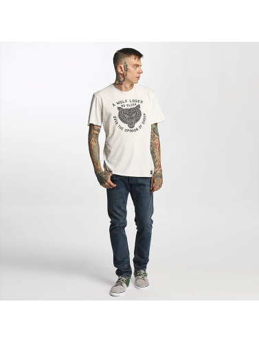 ONEILL Hombres Camiseta LM The Wolf in blanco