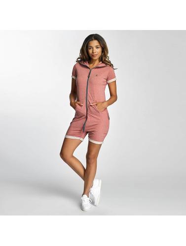 Onepiece Damen Jumpsuit Fitted Short Onesie in rosa