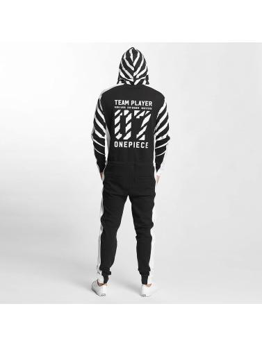 Onepiece Jumpsuit Racer Printed in schwarz