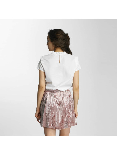 Only Mujeres Blusa / Túnica onlOzzy Small Frill in blanco
