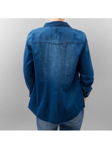 Only Damen Bluse onlPop It Fittet Original Denim in blau