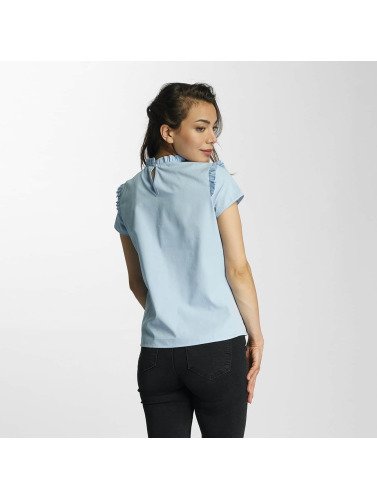 Only Damen Bluse onlOzzy Small Frill in blau