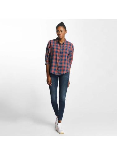 Only Damen Bluse onlElif 3/4 Sleeve Check Denim in blau Freies Verschiffen Online 1yEo6fhK