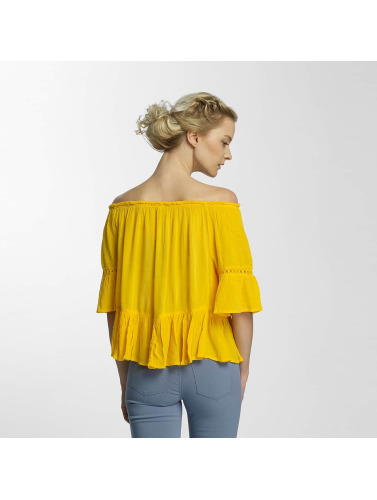 Only Damen Bluse onlBingo Off Shoulder Peplum in gelb