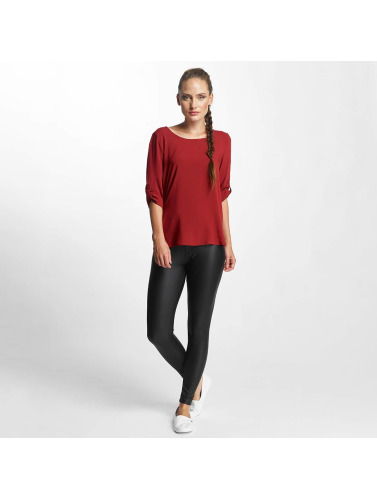 Only Damen Bluse onlFirst 3/4 Fold Up in rot