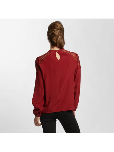 Only Damen Bluse onlSonny Lace Bishop in rot