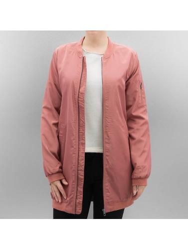 Only Damen Bomberjacke onlLinea Long in rosa