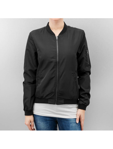 Only Damen Bomberjacke onlLinea Nylon Short in schwarz