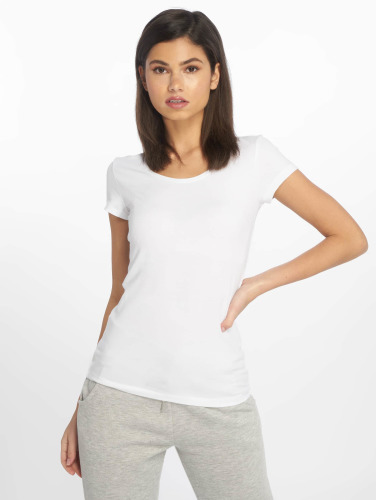 Only Mujeres Camiseta onlLive Love in blanco