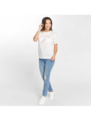 Only Mujeres Camiseta onlFurry Cherry in blanco
