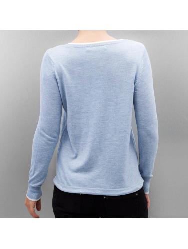 Only Mujeres Camiseta de manga larga OnlPhilu O-Nec in azul