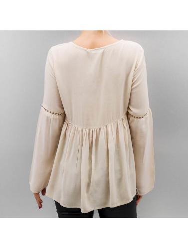 Bare Kvinner Langermet Skjorte I Beige Onllupina lav pris autentisk online handle for salg 2015 nye amazon TUhrFxzDiB