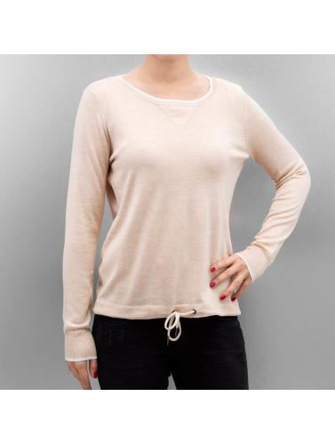 Only Mujeres Camiseta de manga larga OnlPhilu O-Neck in marrón