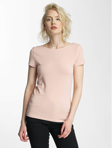 Only Mujeres Camiseta onlLive Love Lace Up in rosa