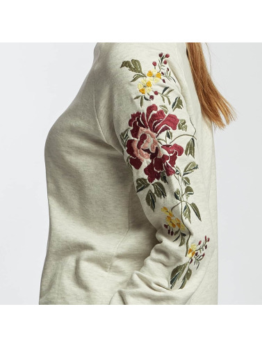 Only Mujeres Jersey onlDarma Flower Embroidery in beis