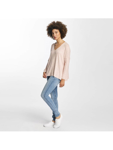 Only Mujeres Jersey onlMaye V-Neck in rosa