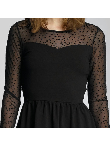 Only Damen Kleid onlNiella Mesh Star in schwarz