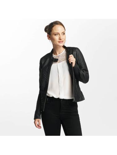 Only Damen Lederjacke onlReady Faux Leather in schwarz