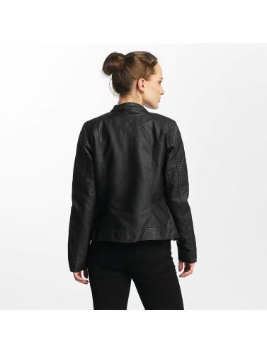 Only Damen Lederjacke onlReady Faux Leather in schwarz