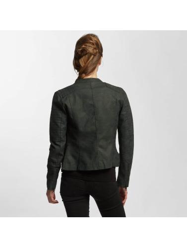 Only Damen Lederjacke onlAva Faux Leather in schwarz