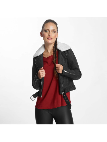 Only Damen Lederjacke onlDanielle Faux Leather Biker in schwarz