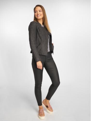 Only Damen Lederjacke onlAva Faux Leather Biker in schwarz