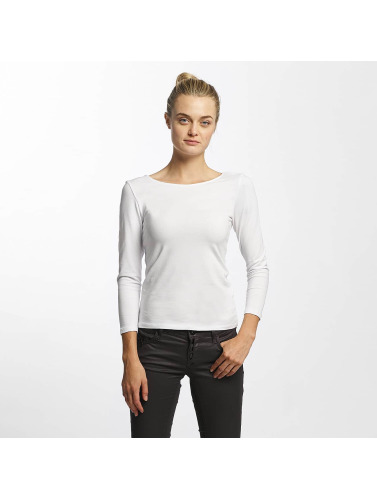 Only Damen Longsleeve onlLive Love 7/8 Lace Up in weiß