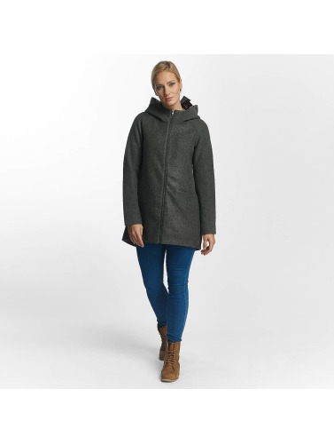Only Damen Mantel onlDogville Camille Wool in grau