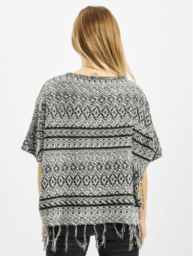 Only Damen Pullover onlArdenay 2/4 Knit Poncho in grau
