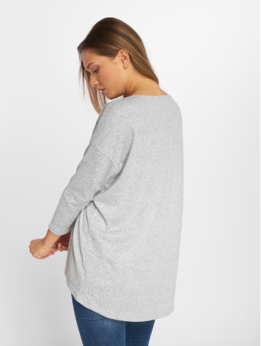 Only Damen Pullover onlElcose 4/5 Solid in grau