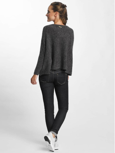 Only Damen Pullover onlMeredith 7/8 Oversize in grau