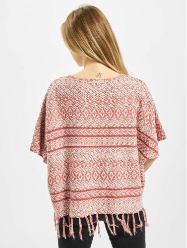 Only Damen Pullover onlArdenay 2/4 Knit Poncho in rot