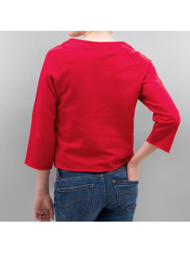 Only Damen Pullover onlCropped 3/4 Boyfriend in rot