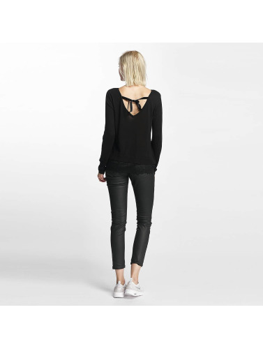 Only Damen Pullover onlShirtley Lace in schwarz