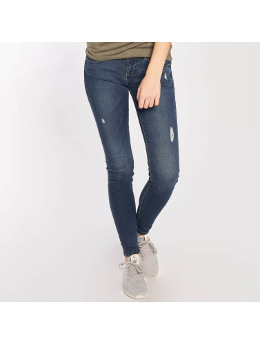 Only Damen Skinny Jeans Coral Superlow in blau