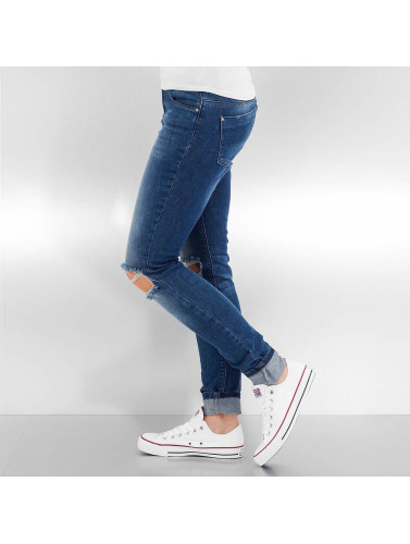 Only Damen Skinny Jeans onlCoral Regular Kneehole in blau