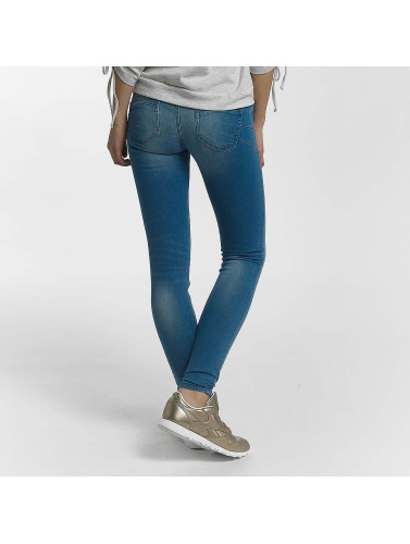 Only Damen Skinny Jeans onlAllan Reg Pushup in blau