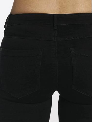 Only Damen Skinny Jeans Royal Regular Kneecut in schwarz