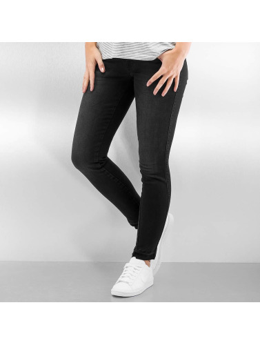 Only Damen Skinny Jeans onlCoral Short Ankle in schwarz
