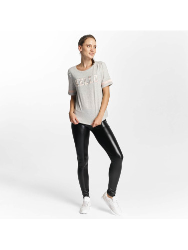 Only Damen T-Shirt onlMia Hello in grau