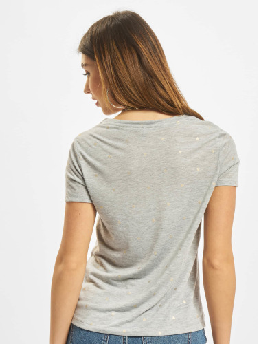 Only Damen T-Shirt onlIsabella in grau